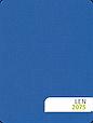 Тканевые ролеты с тканью Лен 874 синий, фото 2
