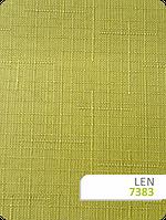 Рулонные шторы на заказ с тканью Len 7383 зеленый