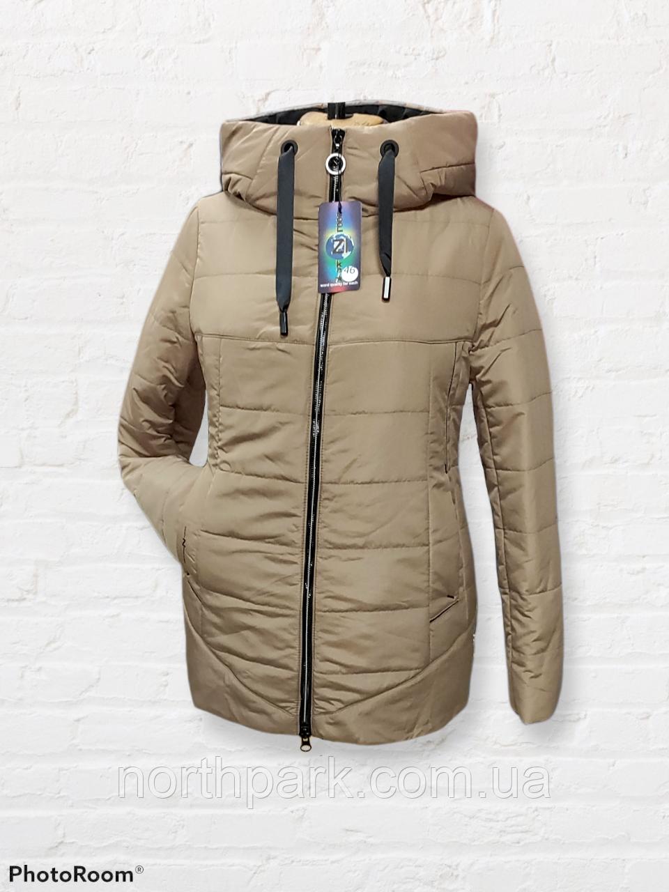 Жіноча універсальна демісезонна куртка Дн-6, бежева