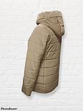 Жіноча універсальна демісезонна куртка Дн-6, бежева, фото 3