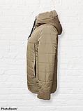 Жіноча універсальна демісезонна куртка Дн-6, бежева, фото 7