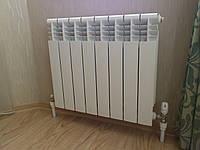 Монтаж и подключение радиатора (сталь/алюмин.)