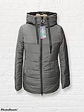 Жіноча універсальна демісезонна куртка Дн-6, сіра, фото 2
