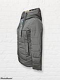 Жіноча універсальна демісезонна куртка Дн-6, сіра, фото 3