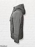 Жіноча універсальна демісезонна куртка Дн-6, сіра, фото 6