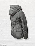 Жіноча універсальна демісезонна куртка Дн-6, сіра, фото 5