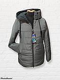 Жіноча універсальна демісезонна куртка Дн-6, сіра, фото 4