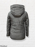Жіноча універсальна демісезонна куртка Дн-6, сіра, фото 7