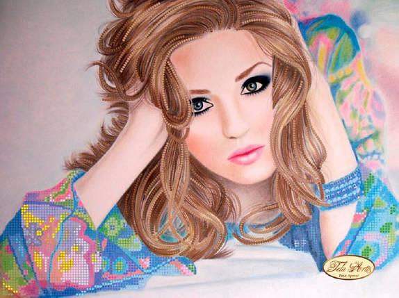 """Рисунок на ткани для вышивания бисером """"Красотка"""", фото 2"""