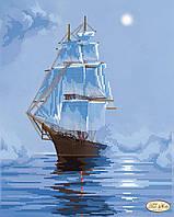 """Рисунок на ткани для вышивания бисером """"Морскими просторами"""""""