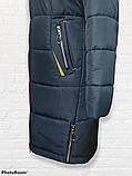 """Жіноче зимове плащове пальто """"Олівія"""", синьо-зелене, фото 2"""