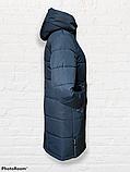 """Жіноче зимове плащове пальто """"Олівія"""", синьо-зелене, фото 4"""