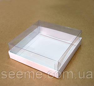 Коробка с пластиковой крышкой 140х140х35 мм.