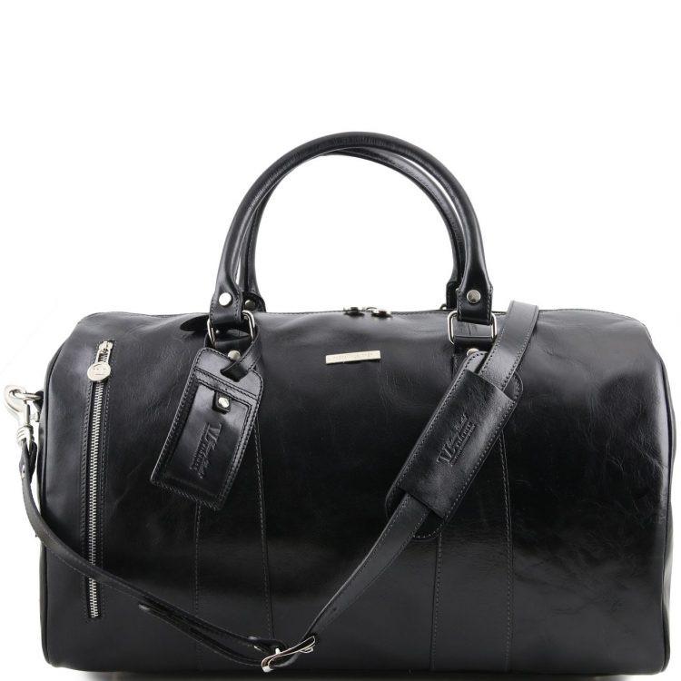 TL141794 Черный TL Voyager - Дорожная кожаная сумка-даффл - Большой размер от Tuscany