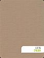 Рулонні штори Льон 7439 сіро-бежевий, фото 2