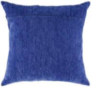 Обратная сторона подушки, индиго