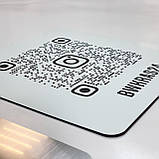 Металева Instagram-візитка з QR-кодом 100х100мм виготовимо за 1 годину, фото 2
