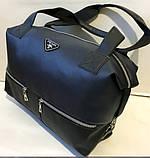 Женская городская универсальная сумка Prada из искусственной кожи 32*48 см, серебро, фото 4