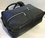 Жіноча міська універсальна сумка Prada зі штучної шкіри 32*48 см, пудра, фото 3