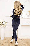 Спорт костюм жіночий 119R356 колір Темно-синій, фото 3