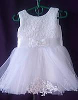 Дитяча сукня для дівчинки з фатином 1-1,5 року, білого кольору