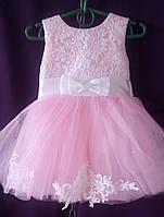 Дитяча сукня для дівчинки з фатином 1-1,5 року, рожевого кольору