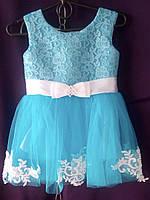 Дитяча сукня для дівчинки з фатином 1-1,5 року, блакитного кольору