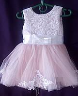 Дитяча сукня для дівчинки з фатином 1-1,5 року, світло-рожевого кольору