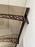 Готовий збірний дашок 2,05х1м Стиль з монолітний полікарбонатом 4 мм, фото 2