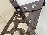 Готовый сборный козырек 2,05х1 м Стиль с монолитным поликарбонатом 3 мм, фото 3