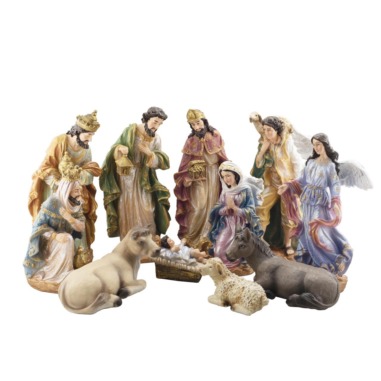 Вертеп рождественский (набор из 11 фигур) (гипс) 40см F9912-1(G)