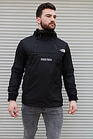 Мужская ветровка анорак в стиле The North Face Steep Tech чёрная, фото 1