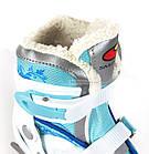 Коньки ледовые фигурные регулируемые SMJ DRAGON GIRL, фото 5