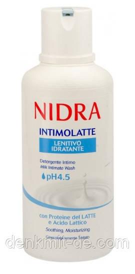 Гель для інтимної гігієни Nidra Intimolatte Lenitivo заспокоюючий з молочними протеїнами, 500 мл