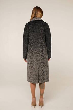 Женское прямое шерстяное пальто осень весна кофейное (р. 44-54) арт. 1283/102, фото 2