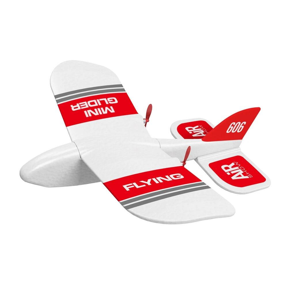Літак на радіоуправлінні KFPLAN KF606 з вбудованим гіроскопом (Біло-червоний)