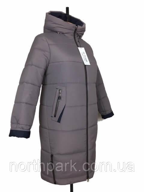 """Жіноче зимове плащове пальто """"Олівія"""", мокко"""