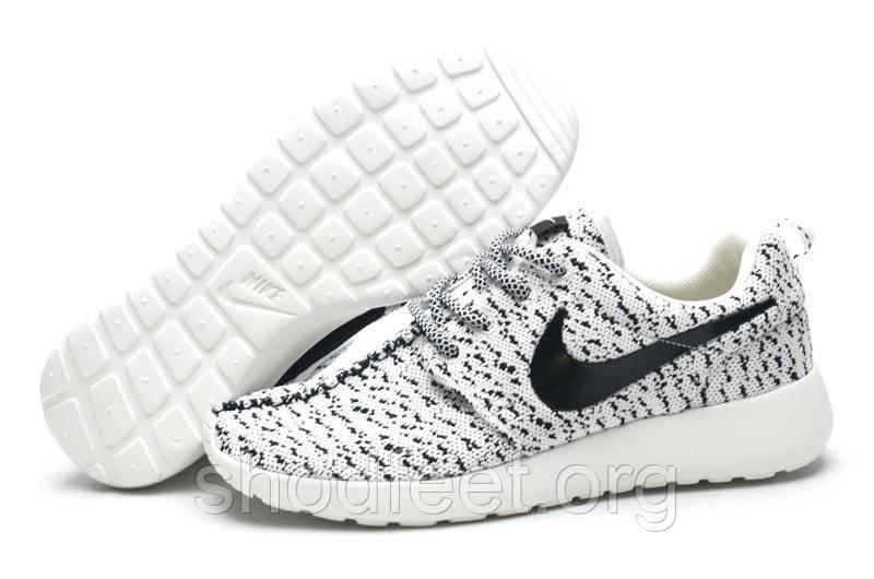 Мужские кроссовки Nike Roshe Run Yeezy 350 White