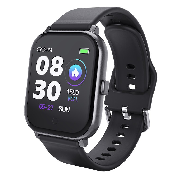 Розумні годинник Lemfo T55 c кольоровим дисплеєм і тонометром (Чорний)