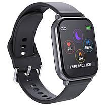 Розумні годинник Lemfo T55 c кольоровим дисплеєм і тонометром (Чорний), фото 3