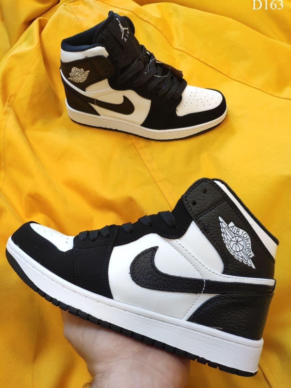 Женские кроссовки Nike Air Jordan 1 Retro (черно-белые) качественные демисезонные кроссы D163