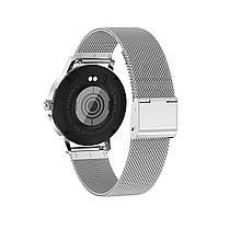 Розумні годинник Linwear LW20 Metal з тонометром (Сріблястий), фото 2