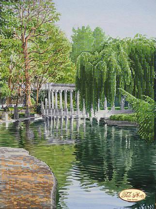 """Рисунок на ткани для вышивания бисером """"Амфитеатр у пруда"""", фото 2"""