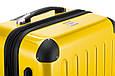 Прочный малый пластиковый 4-колесный чемодан 45 л. HAUPTSTADTKOFFER alex mini yellow желтый, фото 7