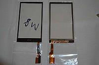 Оригинальный тачскрин / сенсор (сенсорное стекло) для HTC One M8 | M8 Dual SIM | M8e (черный цвет) + СКОТЧ
