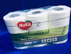 Папір туалетний Ruta Professional 6 рул / уп