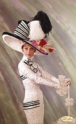 """Рисунок на ткани для вышивания бисером """"Великолепная Одри"""", фото 2"""