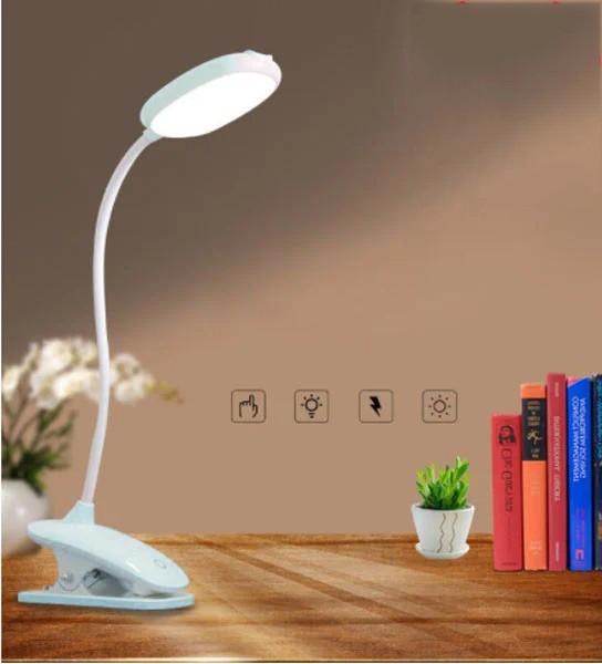 Лампа світильник на прищіпка WD305 Сенсорна з 3 режимами microUSB Бірюзовий