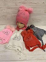 Комплект: гапка+шарфдля дівчат 52 см. Опт