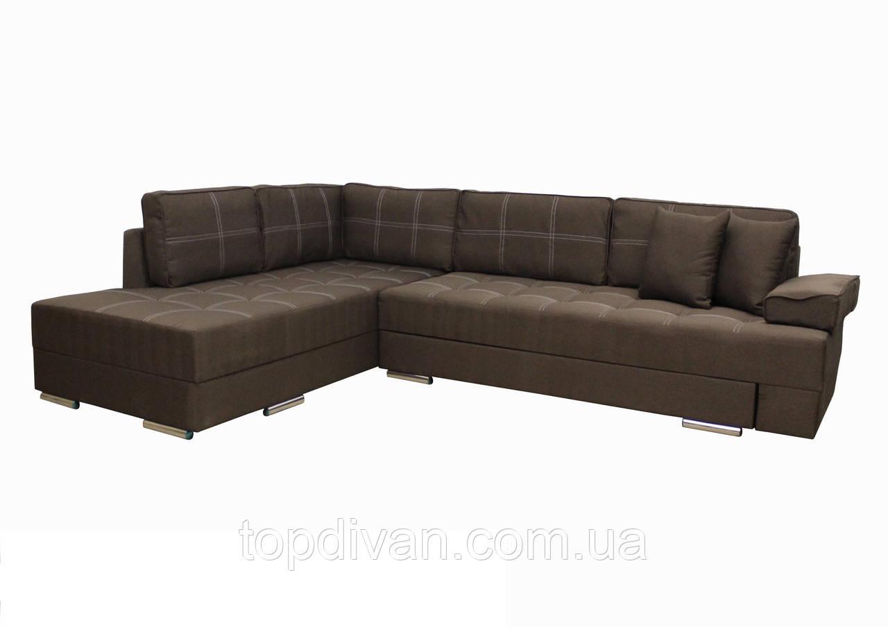 """Кутовий диван """"Прінстон"""". Люкс 12. Габарити: 2,95 х 2,10 Спальне місце: 2,00 х 1,60"""